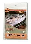 Trout Knotless Tapered Leaders - 2 Pack